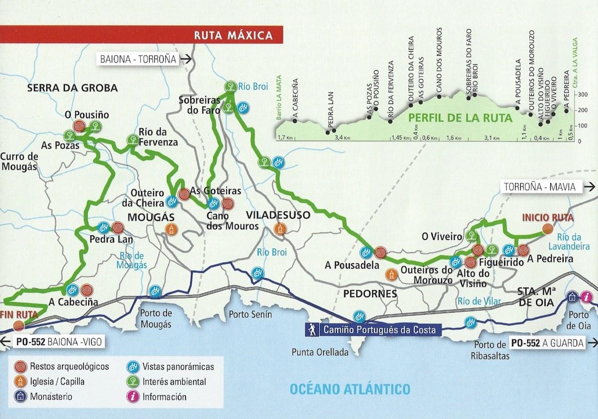 mapa concello Oia - Restaurante Lugar