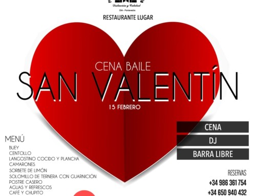 Cena baile por San Valentín 2020