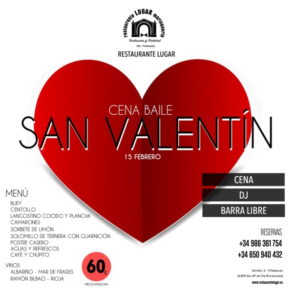Cena Baile San Valentín 2020