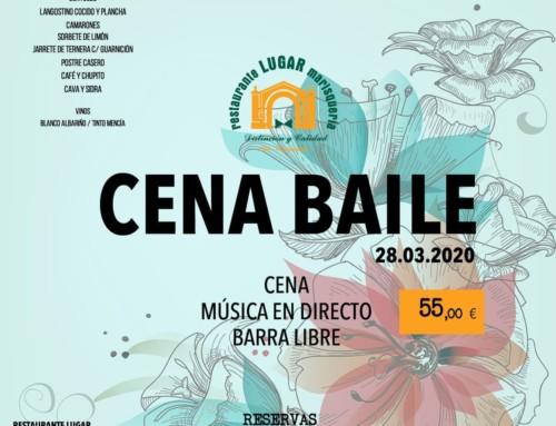 Cena baile con música en directo y barra libre – 28 marzo 2020
